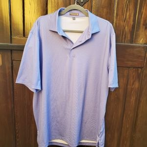 Peter Millar Summer Comfort Blue White Polo